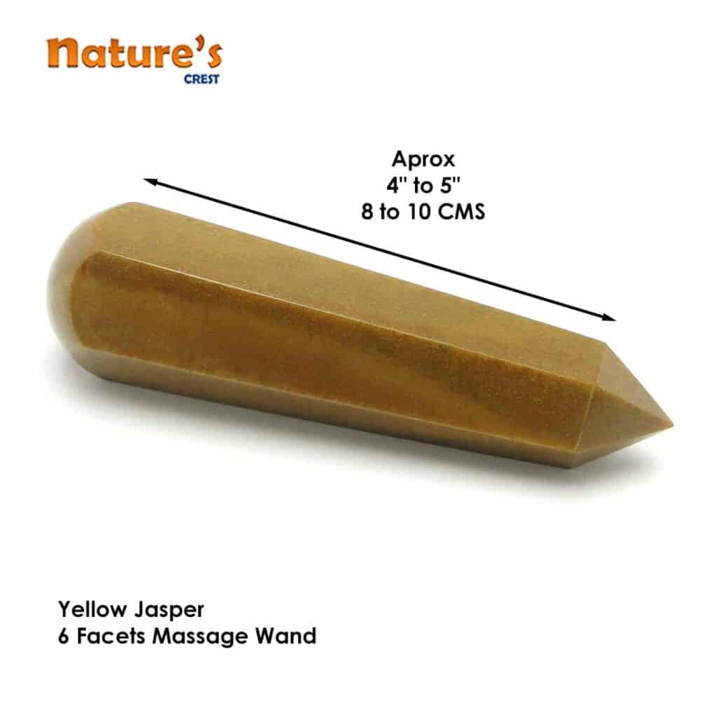 Yellow Jasper Healing Wand Massage Stick Nature's Crest MS018 ₹ 749.00