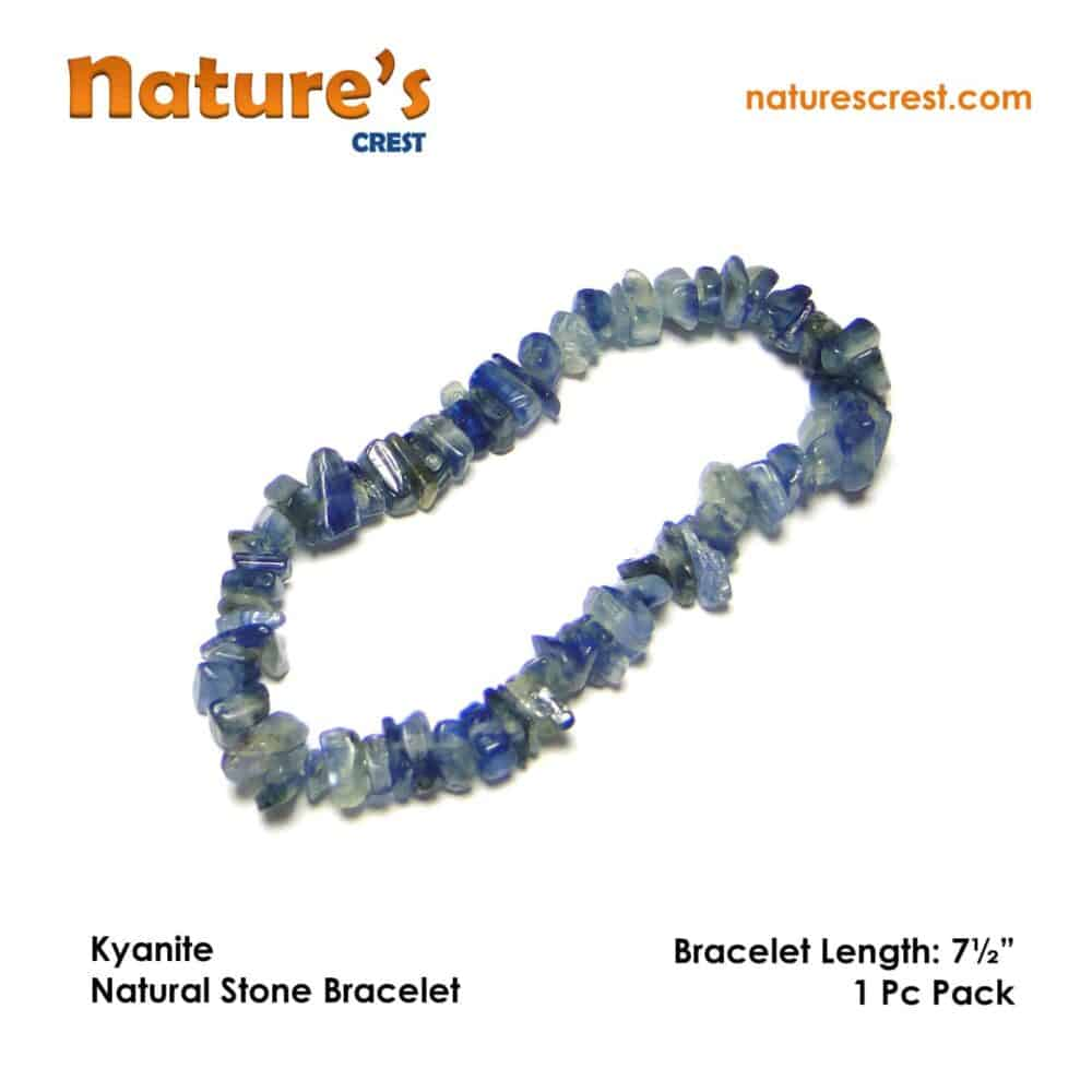 Nature's crest - kyanite chip beads - kyanite natural stone bracelet vector