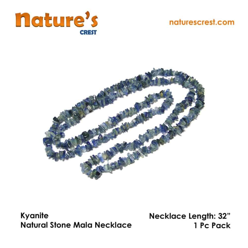 Nature's crest - kyanite chip beads - kyanite natural stone necklace 32 vector