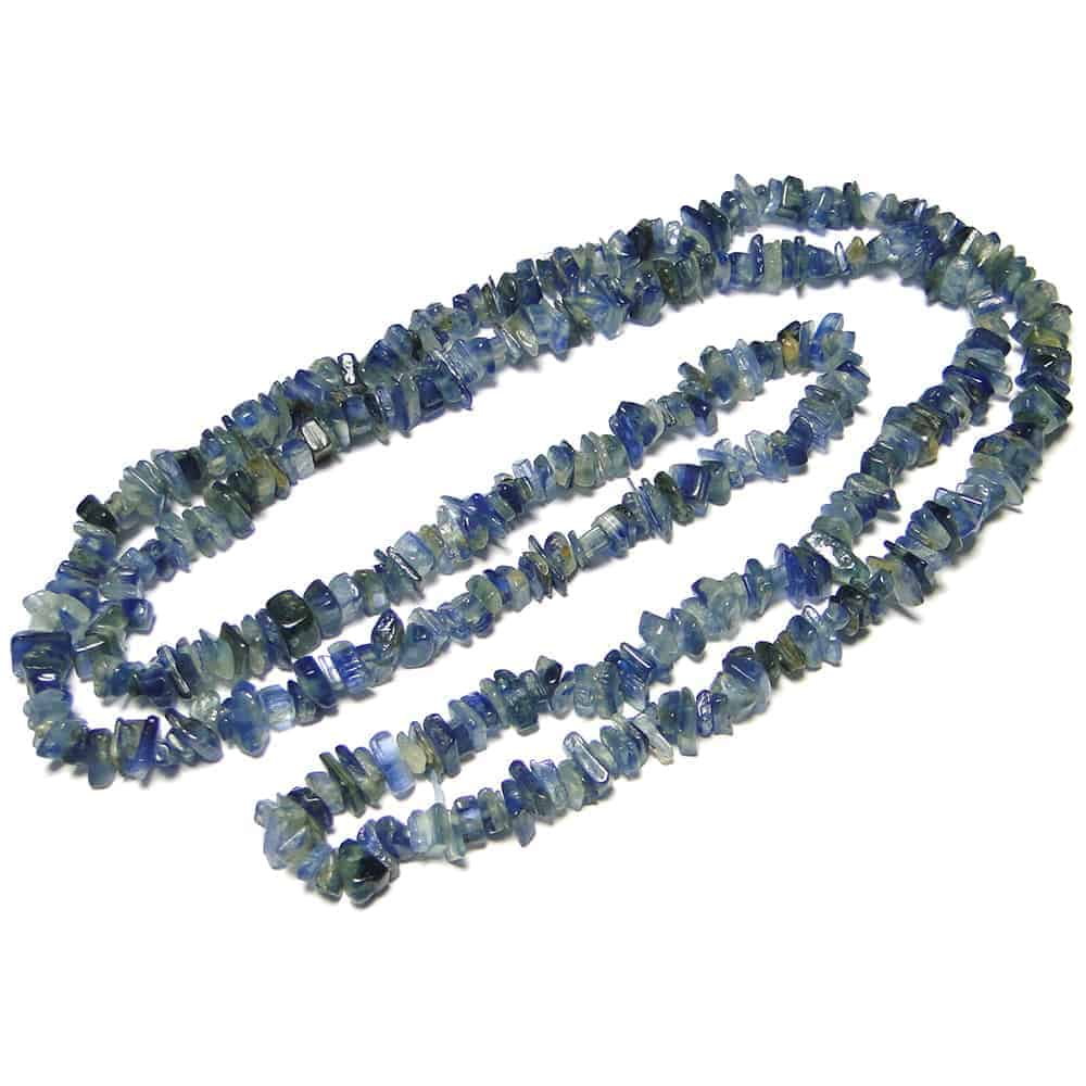 Nature's crest - kyanite chip beads - kyanite natural stone necklace 32