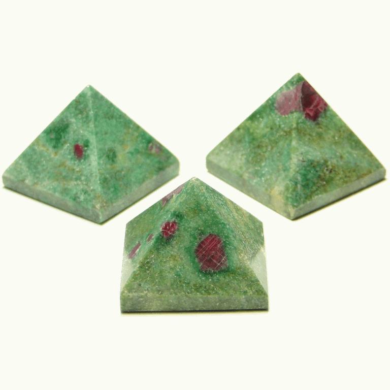 Ruby zoisite pyramids 1200 x 1200 transperant
