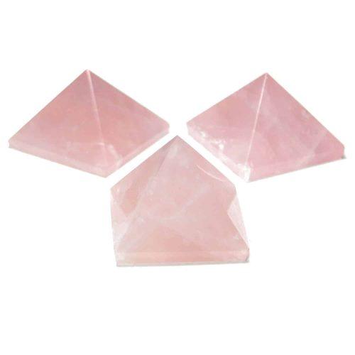 Rose Quartz Pyramids Multiple